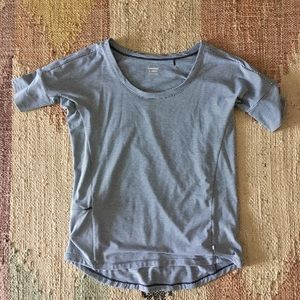 Striped Toad&Co shirt, perfect for travel!